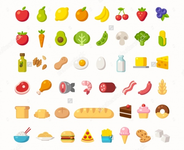 Cartoon Food Icons