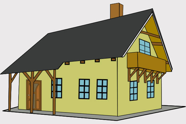 Cartoon House Clipart