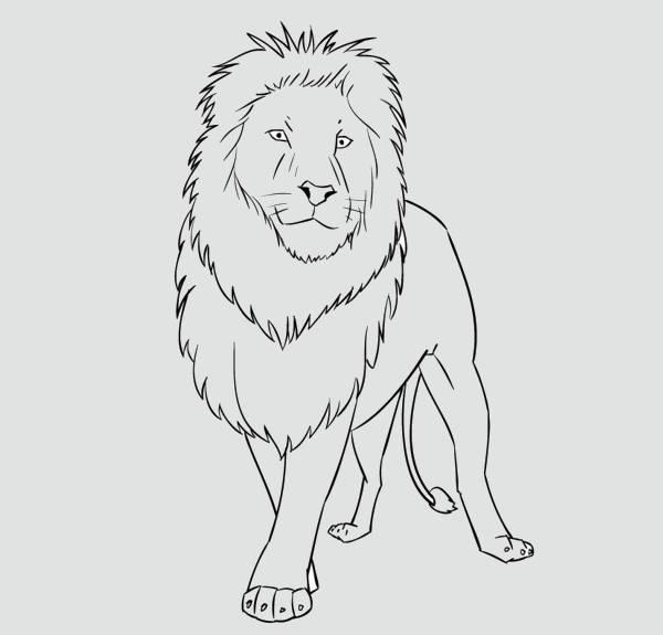 Cartoon Lion Silhouette