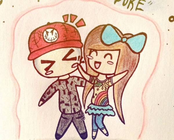 Cartoon Love Drawing