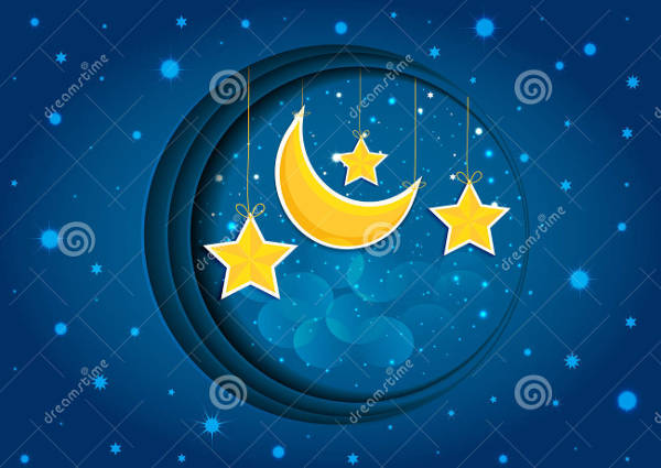 Cartoon Night Sky Vector