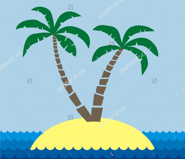 Cartoon Palm Tree Silhouette