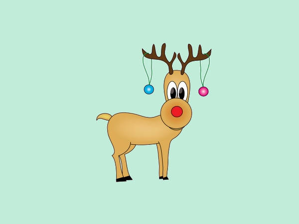 Cartoon Reindeer Clip Art