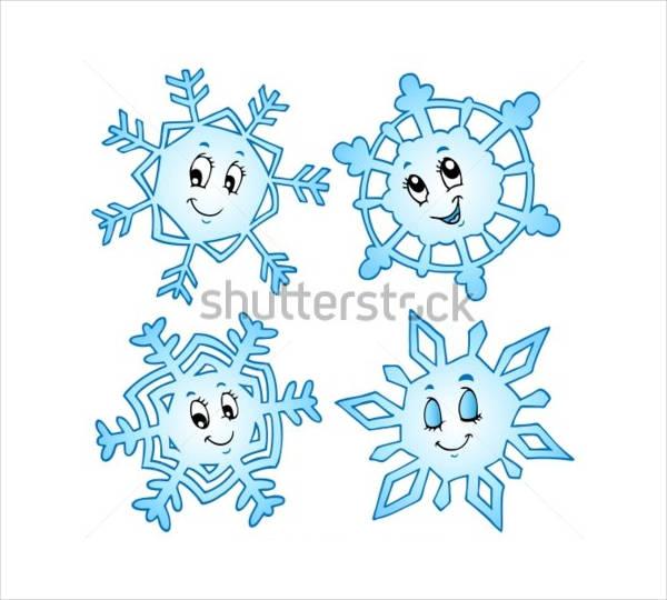 Cartoon Snowflake Vector