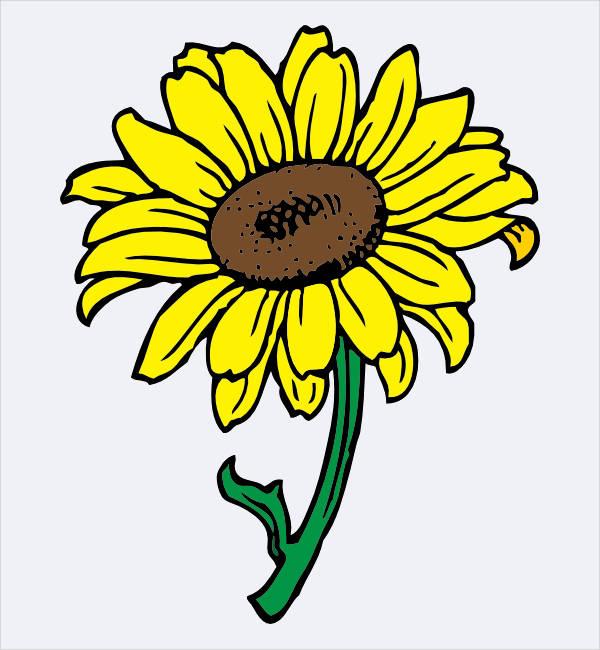 Cartoon Sunflower Clipart