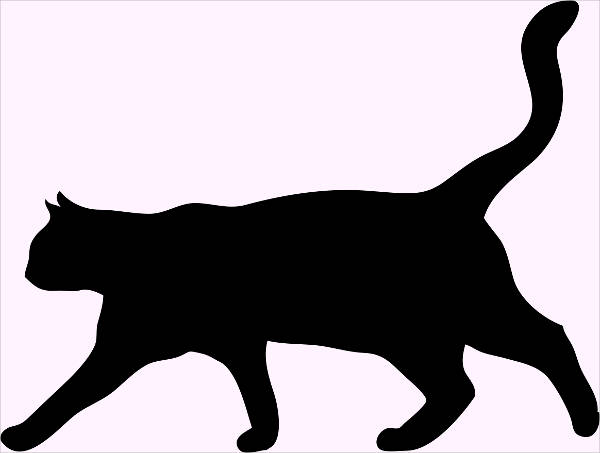 cat clip art silhouette