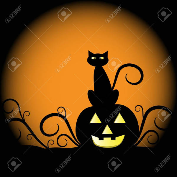 Cat Pumpkin Silhouette