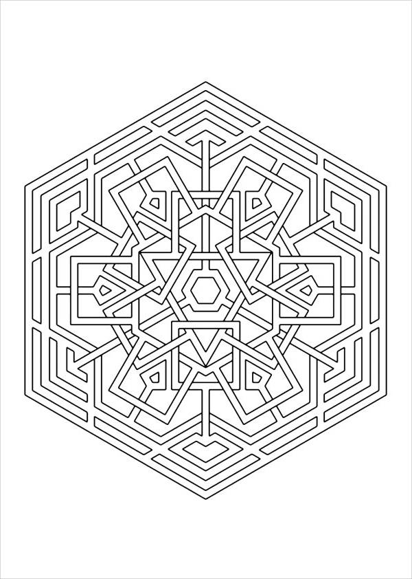 celtic snowflake coloring page