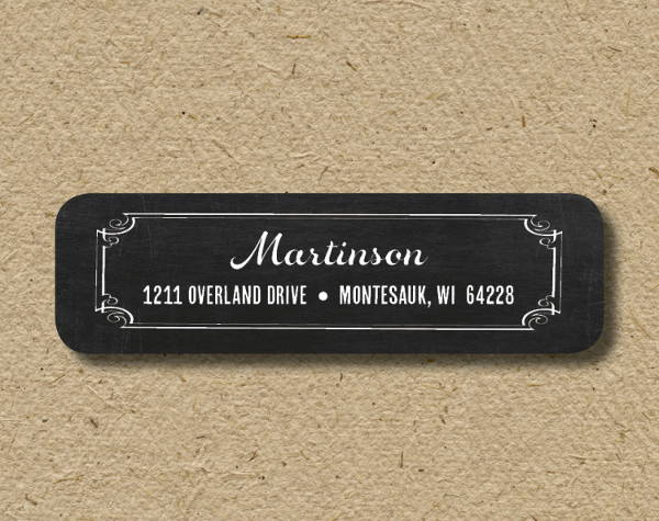 chalkboard address label