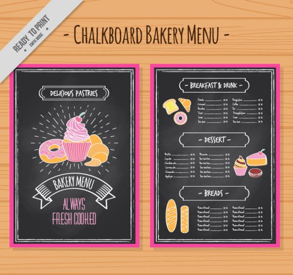FREE 22+ Creative Chalkboard Menu Design Templates In PSD