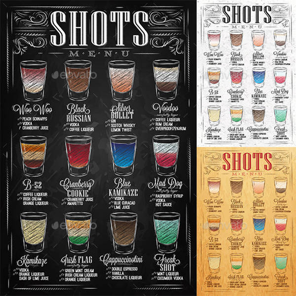 beverage menu design drink menu template stock vector image of