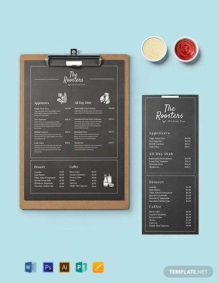 free 21  creative chalkboard menu design templates in psd