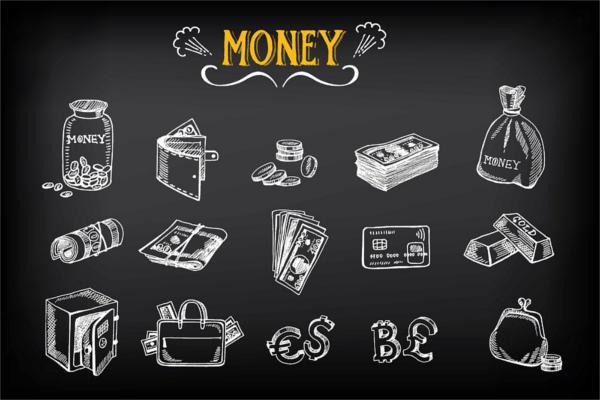 Chalkboard Money Icons
