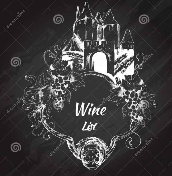 chalkboard wine label