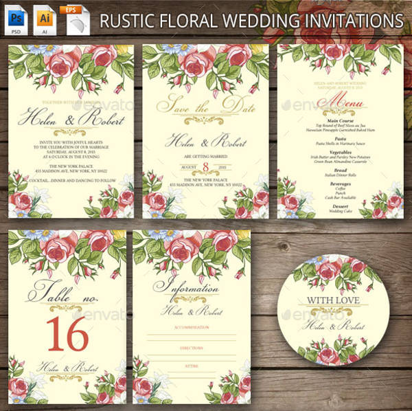 11+ Rustic Wedding Invitations - JPG, PSD, AI Illustrator Download
