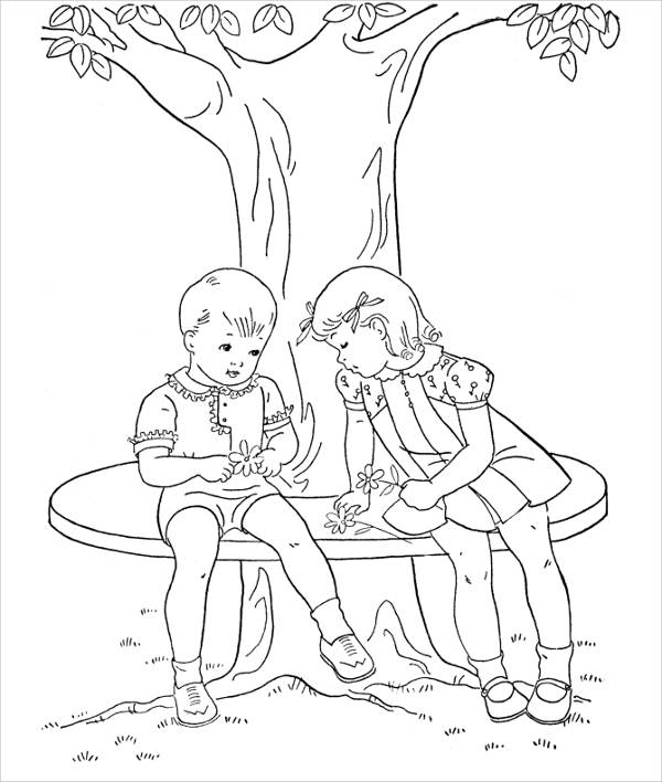 Children's Holiday Coloring Page