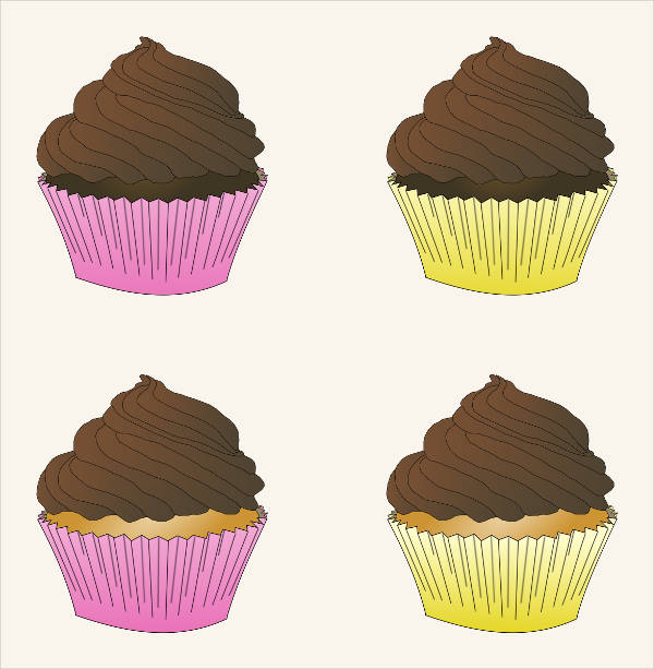 Chocolate Frosted Cupcake Clipart