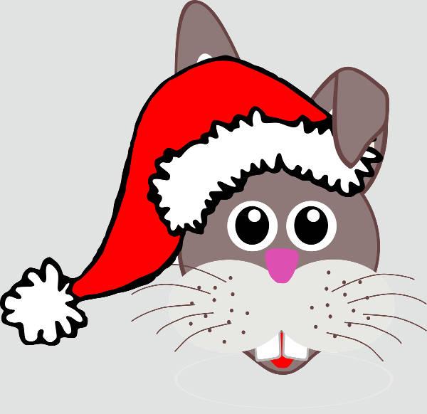 Christmas Bunny Clipart