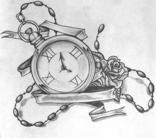 Clock Tattoo Drawing