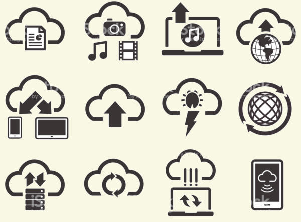 Cloud Computing Storage Icons