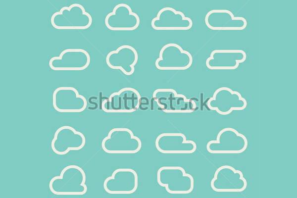 Cloud Line Vector