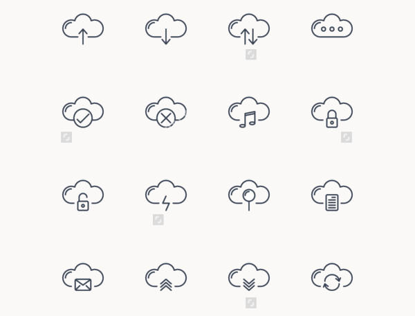 Cloud Outline Icons