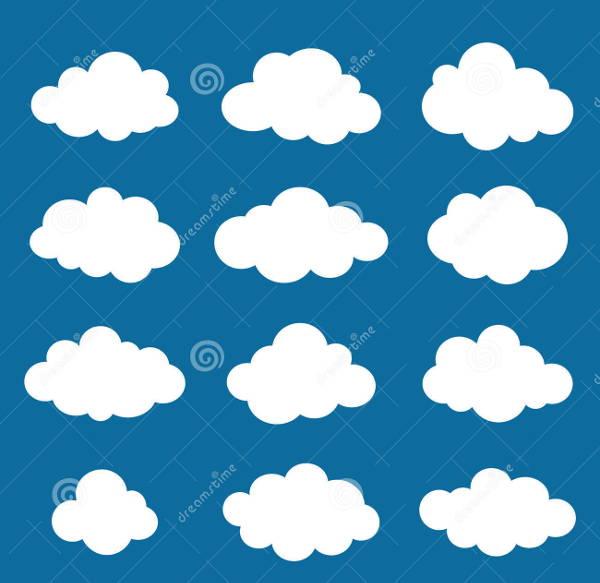 Cloud Shape Vector