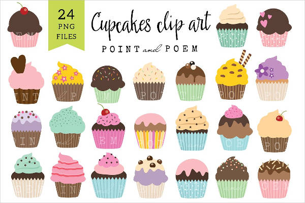 Collection of Cupcake Clipart