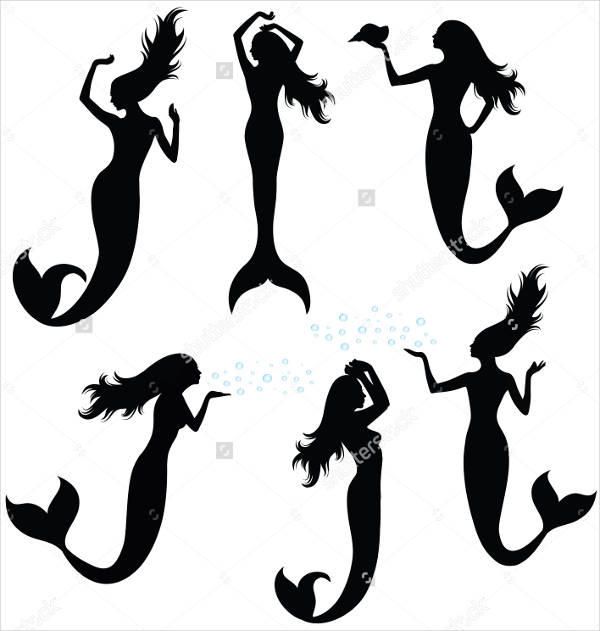 Collection of Mermaid Silhouettes