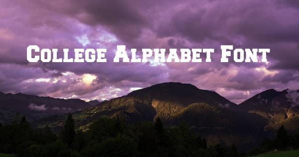 College Alphabet Font