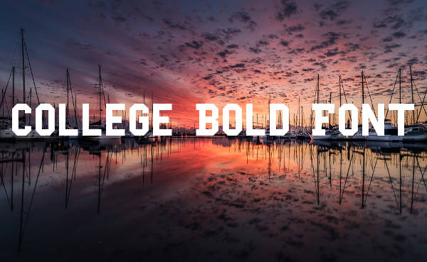 College Bold Font