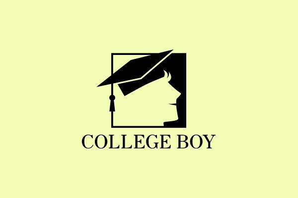 College Boy Portrait Logo