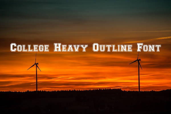 College Heavy Outline Font
