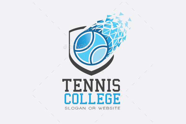 College Sports Tennis Logo