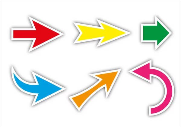 colorful arrow vectors