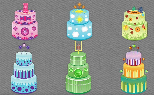 Colorful Birthday Cake Clip Art