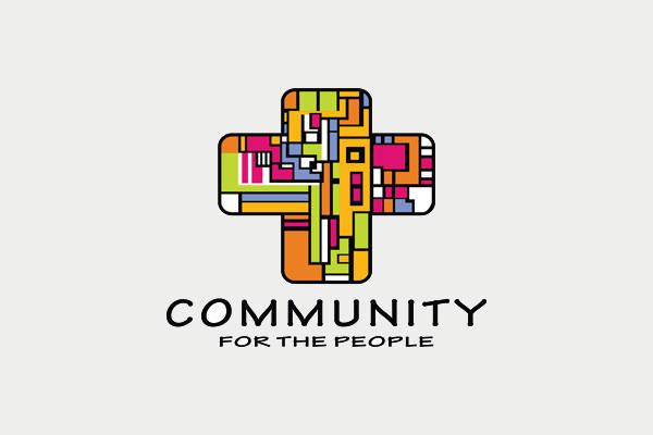 Colorful Church Symbol Logo