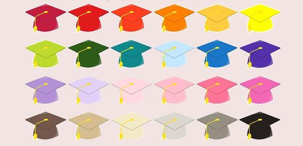 Colorful Graduation Cap Clipart