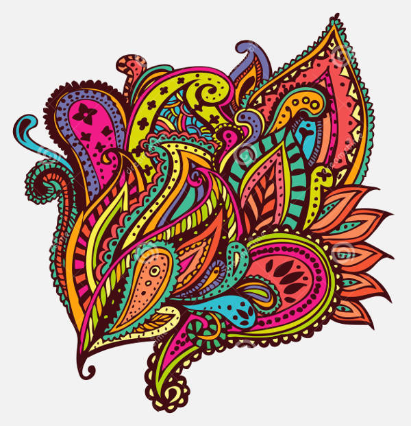 colorful paisley design