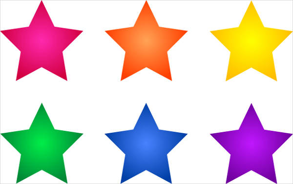 Colorful Star Clipart