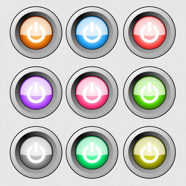 Colorful Start Buttons
