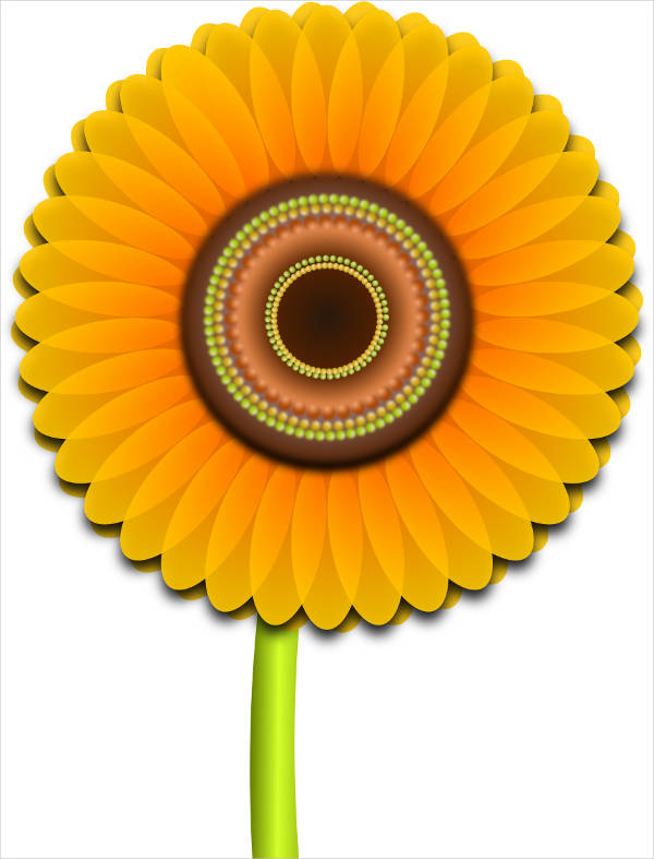 Colorful Sunflower Clipart