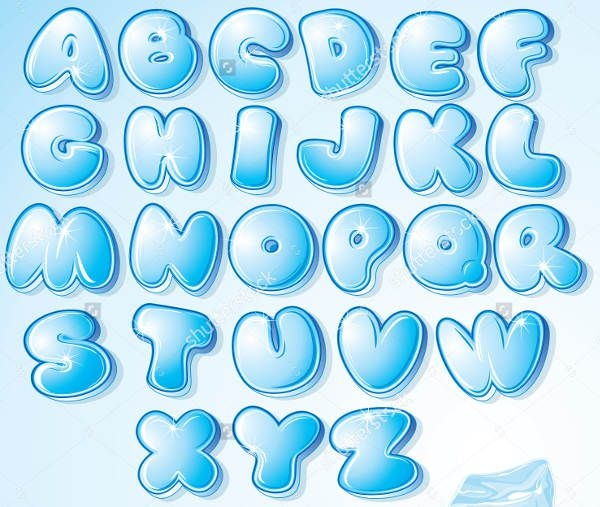 Cool Bubble Letters
