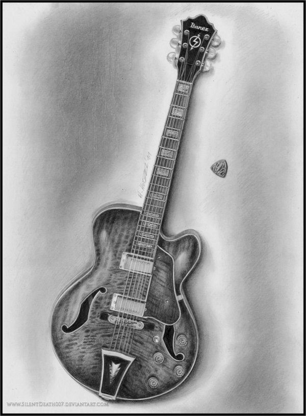 cool guitar drawing