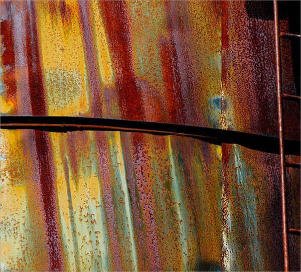 Corrugated Rust Metal Texture