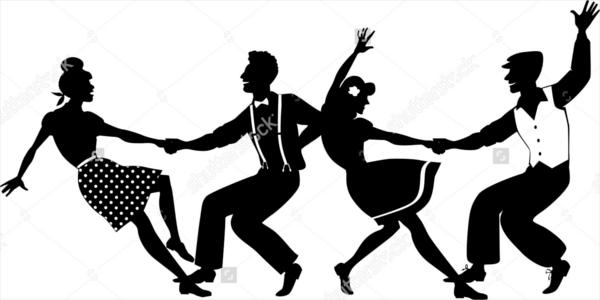 Couple Dancer Silhouette
