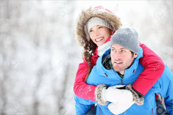 couples winter photography