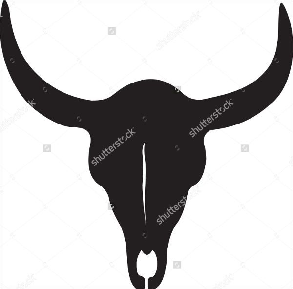 Cow Skull Silhouette