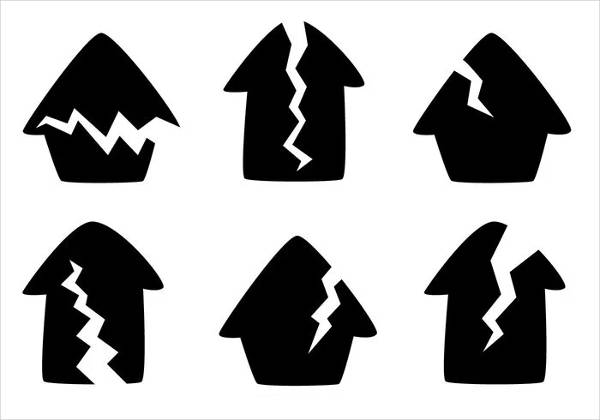 Cracked House Icons