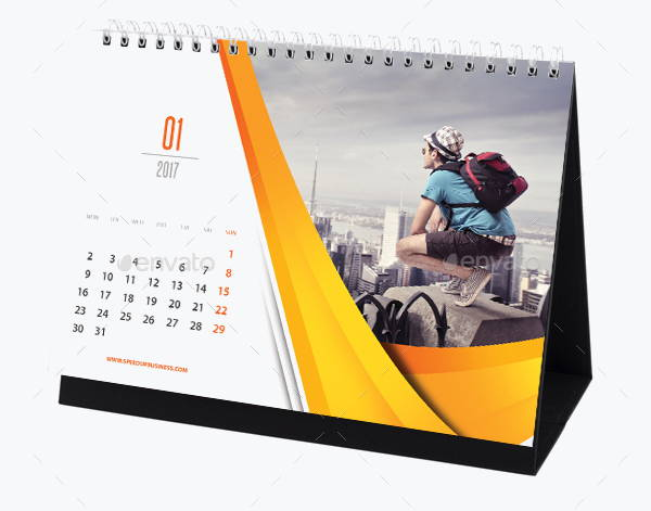 how to make a desk calendar with photos